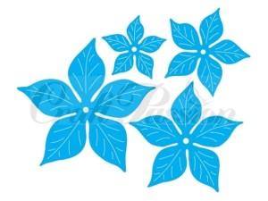 Poinsecja - komplet wykrojników kwiaty Craft Passion MK-33