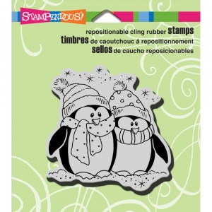 Bundled Penguins - stempel gumowy Stampendous CRQ206