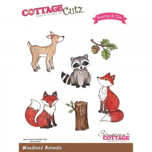 Woodland Animals - stemple + wykrojniki Cottage Cutz CCS-019