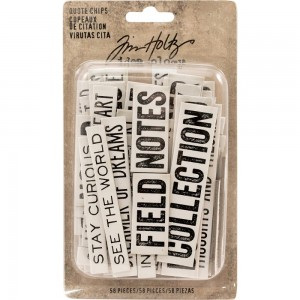 Idea-Ology Chipboard Quote Chips 58szt - Tim Holtz TH93563