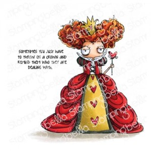 Oddball Queen Of Hearts - stemple gumowe Stamping Bella EB774
