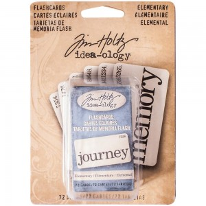 "Elementary 2.5""X1.25"" - Idea-Ology Flashcards 72szt Tim Holtz TH93190"
