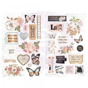 Apricot Honey Chipboard Stickers - naklejki Prima 641511
