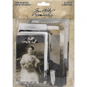 Idea-Ology Found Relative Vintage Portraits 45szt Tim Holtz TH93798