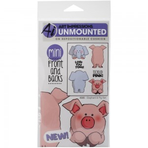 Stemple front & backs - Elephant & Pig Set - Art Impressions 4505