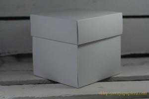 Pudełko exploding box, baza 10x10x10cm - białe