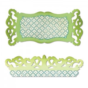 Sizzix Label & Edge, Scrollwork - 658475