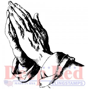 Praying Hands - stempel gumowy Deep Red 3X405651