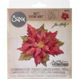 Layered Tattered Poinsettia - wykrojnik Bigz Sizzix + folder do embossingu 662170