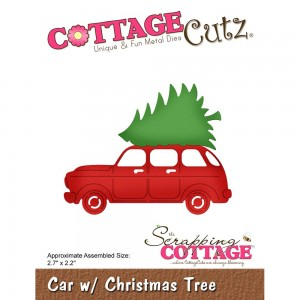 Car with Christmas Tree - wykrojnik Cottage Cutz CC-484