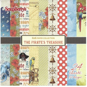 The Pirate`s Treasure - bloczek 15cm x 15cm ScrapBerry`s
