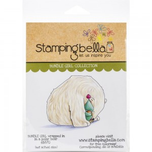Bundle Girl Wrapped In A Polar Bear - stempel gumowy Stamping Bella EB870