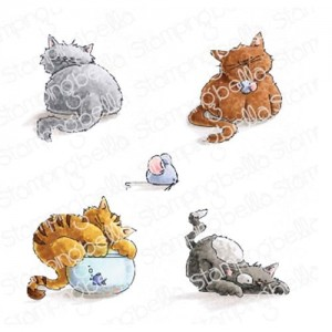 Set Of Kittens - stemple gumowe Stamping Bella EB778