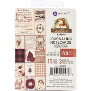 "Christmas In The Country Journaling Cards 3""X4"" 45/Pkg Prima 995317"