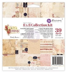 Love Clippings - Collection Kit 15cm x 15cm Prima 992095
