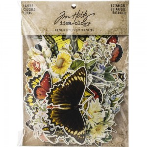 Botanical - Tim Holtz-Idea Ology Layers TH93554 - 83 elementy