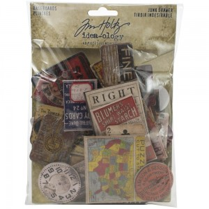 Junk Drawer - Idea-Ology Chipboard Baseboards 40 szt Tim Holtz TH94044