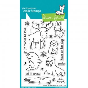 Critters in the Arctic - stemle akrylowe Lawn Fawn LF708