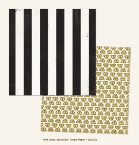 "Papier Jubilee ""Beautiful"" Stripe - 30cm x 30cm"