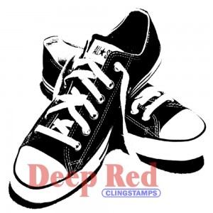 All Star Sneakers - trampki - stempel gumowy Deep Red