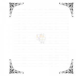 Notes z ornamentem - 15cm x 15cm, 100 stron